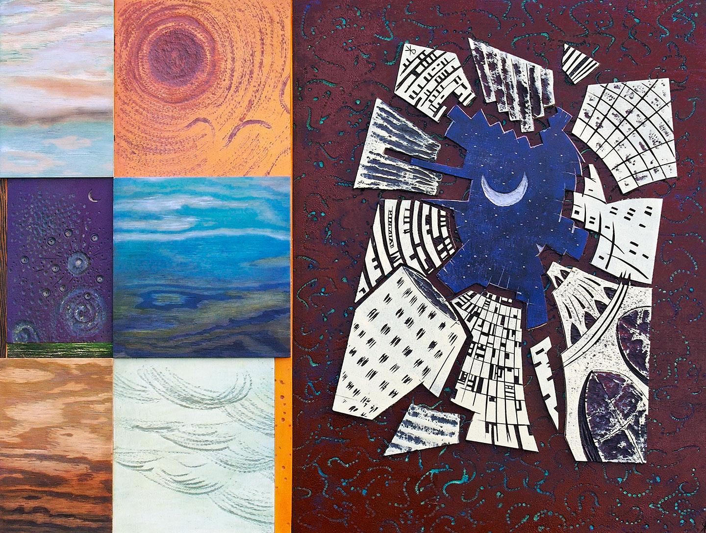 Collage Stadt Klaus Raasch