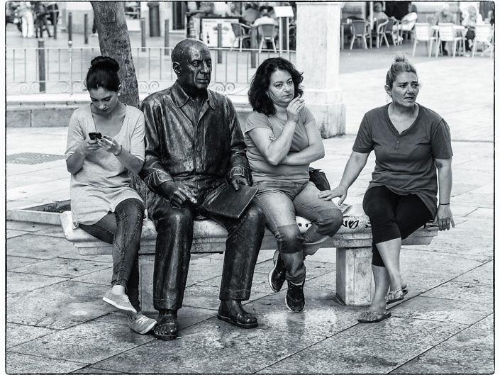 Drei Grazien mit Picasso